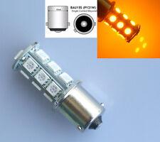 Sidelight 18 SMD 5050 LED 581 BAU15S 1156 PY21W BULBS INDICATOR ORANGE AMBER