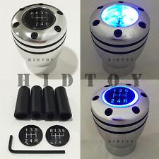 JDM Manual Transmission BLUE LED Light Silver Sport Gear Stick #Gd12 Shift Knob