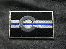 COLORADO STATE FLAG THIN BLUE LINE POLICE TACTICAL MORALE HOOK LOOP PATCH