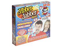 JIBBER JABBER PARTY BOARD GAME SPEAK TALK OUT LOUD 6 x MOUTHPIECES -IN STOCK NOW