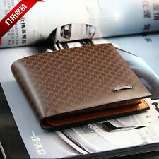 Pidengbao Mens Leather Wallet Brown