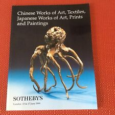SOTHEBYS CHINESE & JAPANESE ART TEXTILES PRINTS PAINTINGS Auction Catalog 1999