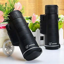 UK PANDA 40X60 Focus Zoom Travelling Hunting HD OPTICS BK4 Monoculars Telescope