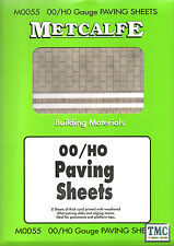 M0055 Metcalfe OO/HO Gauge Pavings 8 Sheets Card Kit