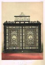 "Waring's ""CABINET BY GATTI DE FAENZA""- Chromo from ""MASTERPIECES of ART"" - 1863"