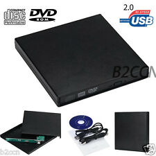 Usb 2.0 ide ordinateur portable cd dvd rw graveur rom drive external case enclosure