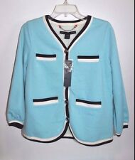 MARC BY MARC JACOBS Blue JACKET W/ FLEECE LINING & SILVER METAL BUTTONS nwt XS