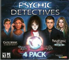 Psychic Detectives 4 Pack PC Games Window 10 8 7 Vista XP Computer hidden object