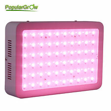 PopularGrow Upgrade 300W Full Spectrum LED Grow Light Indoor Plant Real 5W Chips