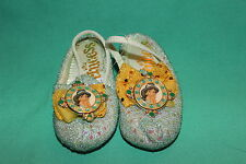 DISNEY PARKS PRINCESS JASMINE TODDLER GIRLS COSTUME SLIPPER SHOES SIZE 5/6 NEW