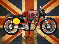 CLASSIC BRITISH MATCHLESS G50 MOTORCYCLE METAL CLOCK