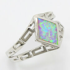 65% Off Pink Australian Opal Unique Design 925 Sterling Silver Ring Size 8
