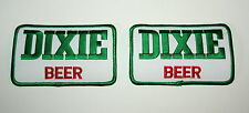 Set of 2 Vintage Dixie Beer Distributor Cloth Patch 1980s NOS New