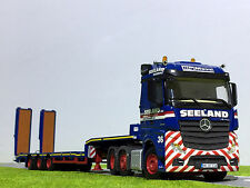 "WSI TRUCK MODELS,MERCEDES ACTROS MP4 6x2 SEMI LOW LOADER WITH RAMPS ""SEELAND"""