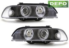 96-00 BMW E39 Projector Halo Black Housing Headlights DEPO