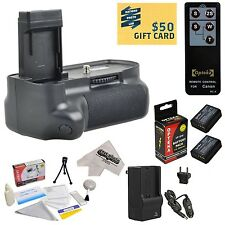 Opteka Battery Grip w/ 2 Batteries, Remote & More for Canon T3 1100D Kiss X50
