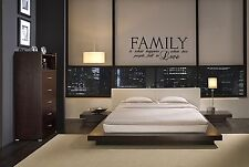 FAMILY IS WHAT HAPPENS WHEN TWO PEOPLE FALL IN LOVE WALL QUOTE DECAL VINYL HOME