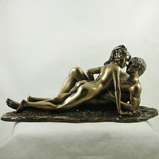 Erotic Bronzed Art Lovers Entwined Figurine Naked Statue Nude Sculpture NEW IN