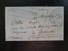 1836 Entire Jersey to La Rochelle with Boxed Pays D'Outremer & Granville entry
