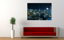 GLITTERING CITY DUBAI NEW GIANT LARGE ART PRINT POSTER PICTURE WALL