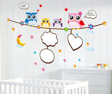 Sweet Dream Owls Wall Sticker Decal Art Transfer Graphic Stencil Home Kids Room