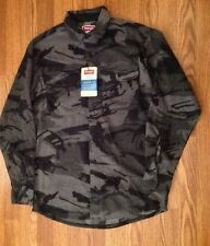 New NWT Men's WRANGLER Shirt Jacket~Gray Camouflage Sz Small 34/36 Relaxed Fit