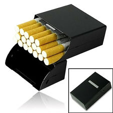 Cool Aluminum Metal Cigar Cigarette Box Holder Tobacco Storage Case Gift Black