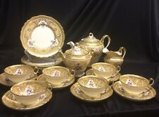 TIFFANY & CO. Royal Cauldon Dessert / Tea Service for 6 Gold Floral ~ ENGLAND