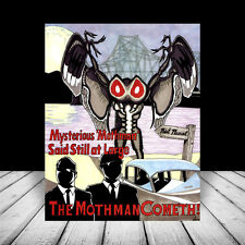 THE MOTHMAN paranormal figure POSTER ART, supernatural monster alien prophecies