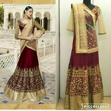 GANGA DESIGNER BOLLYWOOD TRADITIONAL INDIAN LEHNGA CHOLI WEDDING PURE PARTY WEAR