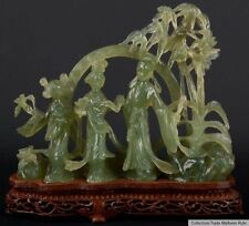 China 20. Jh. Jade - A Chinese Hardstone Immortal Group - Giada Cinese Chinois