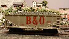 Revell HO Vintage B&O Hopper w/Load, K-Ds, Diecast Sprung Trucks, Ex.