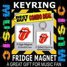 THE LICK ROLLING STONE KEYRING/KEY CHAIN & FRIDGE MAGNET - CD COVER PRODUCT