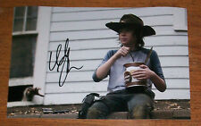 ORIGINAL HAND SIGNED CHANDLER RIGGS PHOTO - 12X8 INCH 30X20 CM THE WALKING DEAD