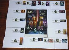 STAR WARS COLLECTIBLE KEEPSAKE FDC SET OF 15 + STAMP SHEET OF 15 X .41 USA 2007