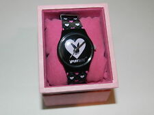 PLAYBOY bunny Watch Black heart all over  strap Design  - 100% Authentic