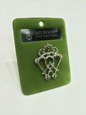 Art Pewter Ladies Authentic Scottish Luckenbooth Brooch Made in Scotland New