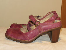 EL NATURALISTA PURPLE LEATHER MARY JANE SHOES SLINGBACK SANDALS UK 4 /37 RRP £95