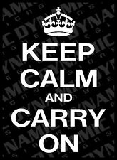 Large Keep calm and carry on car truck funny vinyl window decal sticker