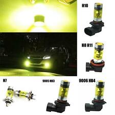 2x 100W LED Cree XBD Projector Fog Driving DRL Light Bulbs 9006 H11 H7 Yellow