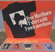 New in Package Marlboro Man Cigarette Large Black T-Shirt 1989