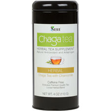 Siberian Chaga Mushroom Premium Tea with Chamomile 4oz blend of raw & extract