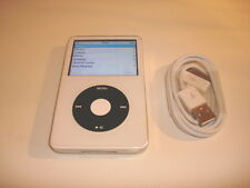 APPLE  IPOD  VIDEO  5.5 GEN.  WHITE  CUStOM  THIN  80GB...NEW  HARD DRIVE...