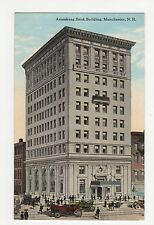 USA, Amoskeag Bank Building, Manchester N.H. Postcard, A823