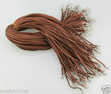 Wholesale price 10pcs brown Suede Leather String 23.5 inch Necklace Cord