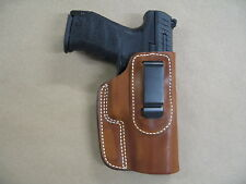 H&K 45, USP 45, MK23  IWB Leather In The Waistband Conceald Carry Holster TAN RH