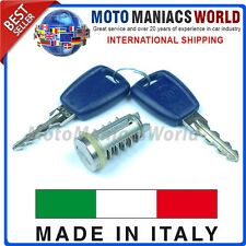 FIAT BRAVO BRAVA MAREA MULTIPLA Door Lock Set Barrel & Keys MADE IN ITALY New
