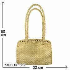 Wicker Woven Handbag Shoulder purse Seagrass Beach bag