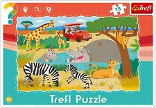 Trefl 15 Piece Baby Kids Unisex Infant Safari Animals Frame Floor Jigsaw Puzzle