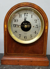 Vintage Early 1930's Bulle Electro-Magnetic 800 Day Bow Top Mantle Clock